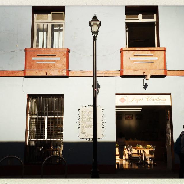 """""""Morning light, Oaxaca City, Mexico"""" stock image"""