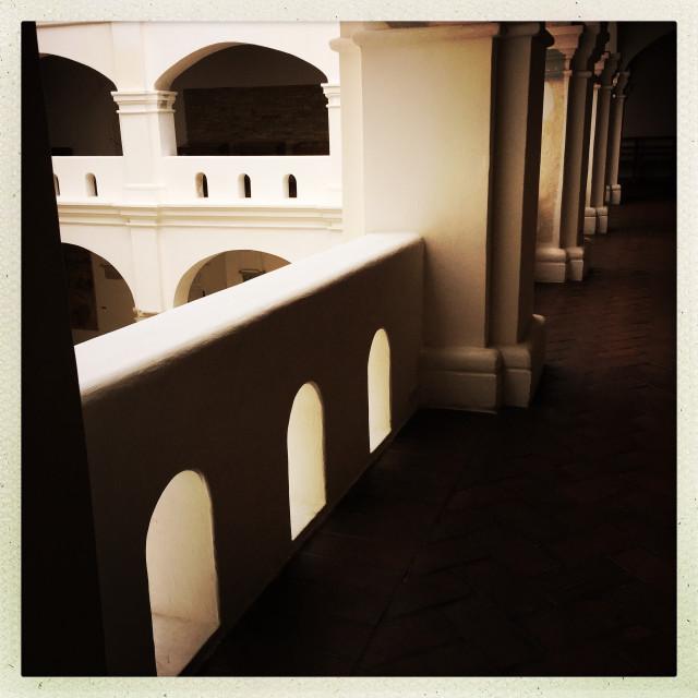 """Graceful Archways in Oaxaca"" stock image"