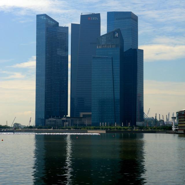 """Singapore - Marina Bay Financial Centre (MBFC)"" stock image"