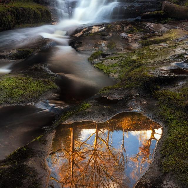 """""""Blaen y Glyn reflection"""" stock image"""