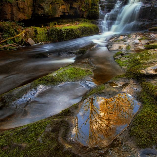 """""""Blaen y Glyn waterfall"""" stock image"""
