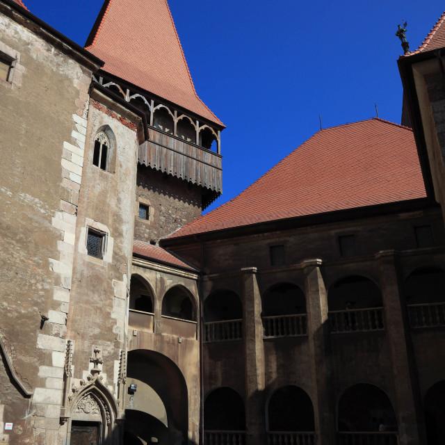 """Corvin Castle, also known as Hunyad Castle or Hunedoara Castle, Castelul..."" stock image"