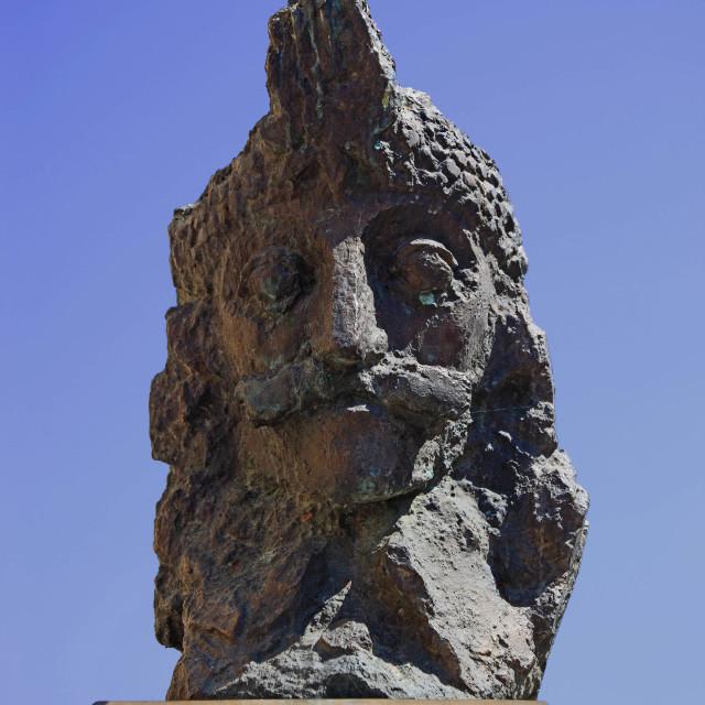 """""""Statue of Vlad Tepes, Dracula supposedly, Sighisoara, Sighisoara, Saxoburgum,..."""" stock image"""