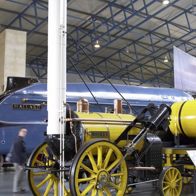 """""""George Stephenson Rocket & Mallard"""" stock image"""