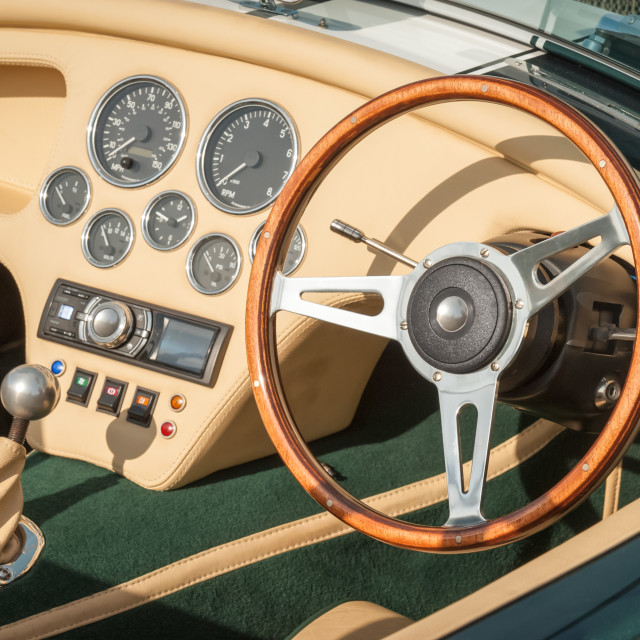 """luxury sports-car interior"" stock image"