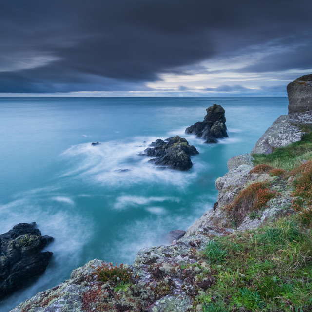 """Bunmahon Sea Stacks"" stock image"
