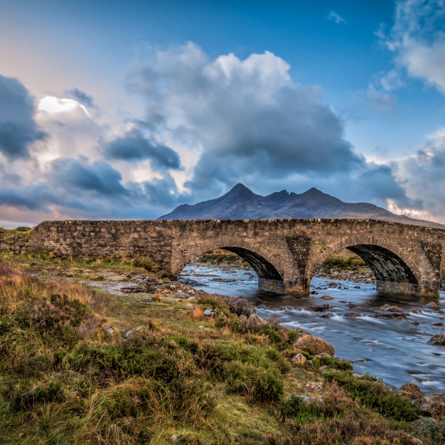 """Sligachan Old Bridge"" stock image"