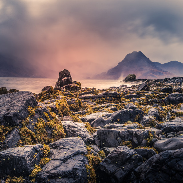 """Stormy Elgol"" stock image"
