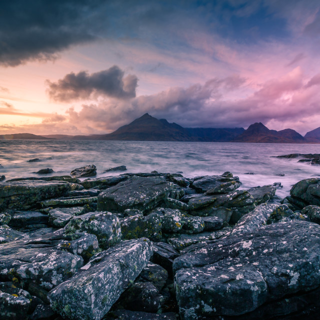 """Angry Sky Over Elgol"" stock image"