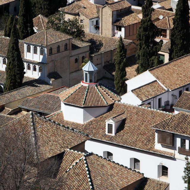 """Granada Rooftops"" stock image"