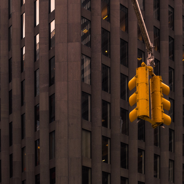 """""""Traffic Lights in the Concrete Jungle"""" stock image"""
