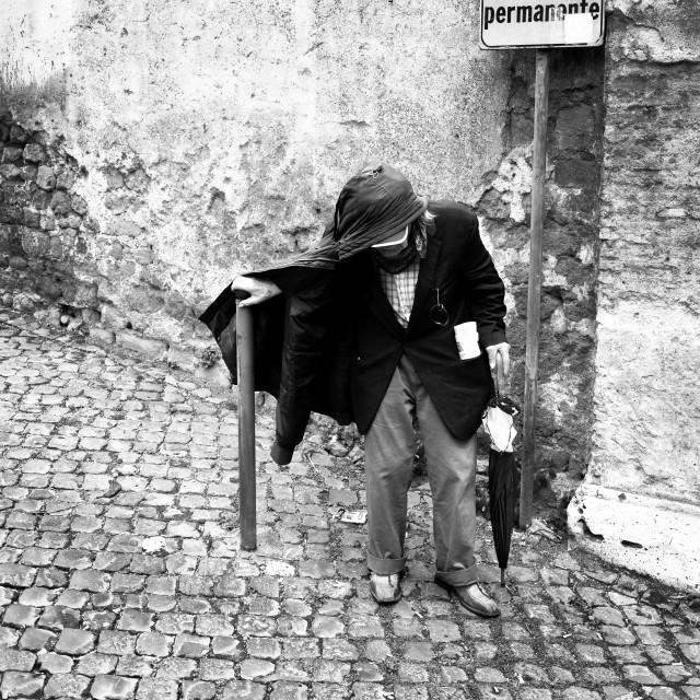 """Old man trastevere Rome"" stock image"