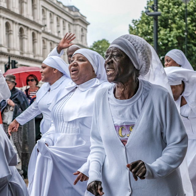 """Church March Whitehall London"" stock image"