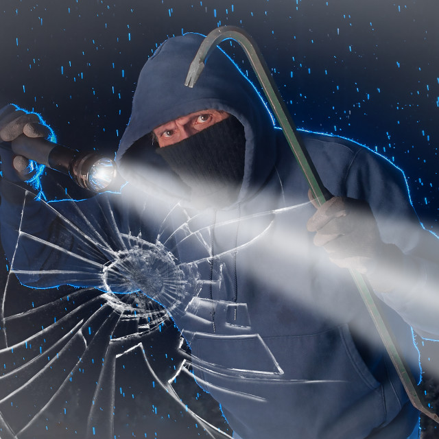 """Night burglar"" stock image"