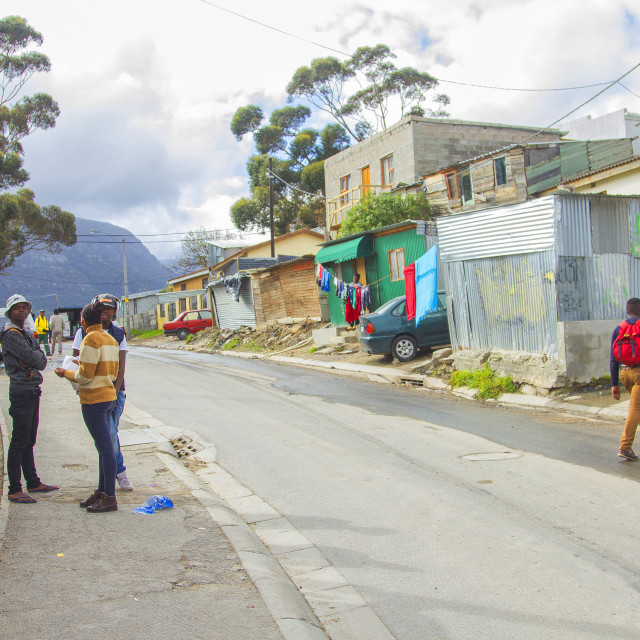 """""""African Township"""" stock image"""