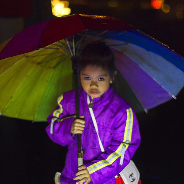 """Umbrella Girl"" stock image"