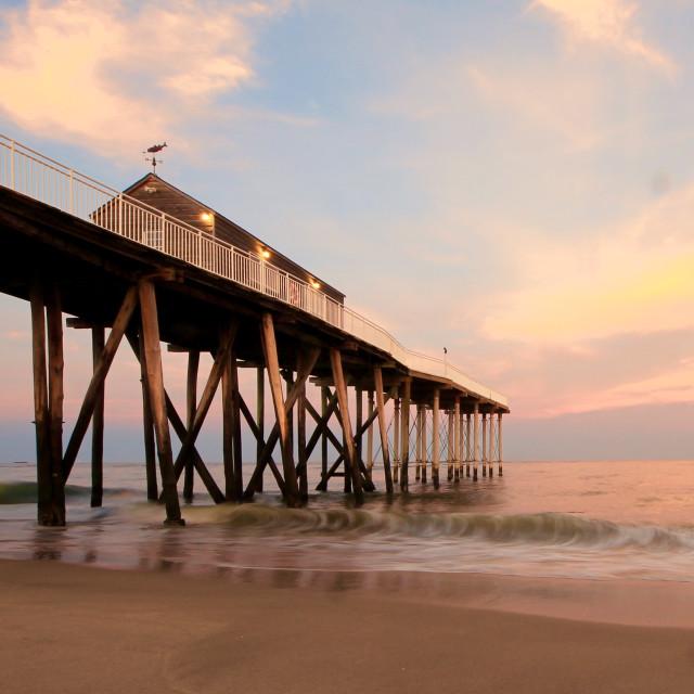 """Evening shot at serene belmar beach NJ"" stock image"