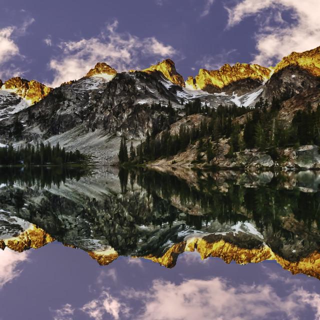"""""""Sunrise Over Alice Lake Idaho"""" stock image"""