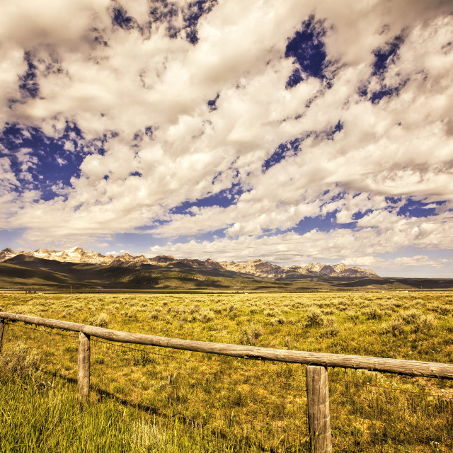 """""""Clouds Over Stanley Basin Idaho"""" stock image"""