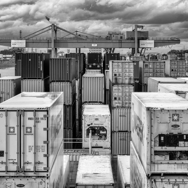 """Container Tetris"" stock image"