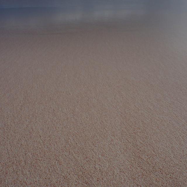 """Bermuda pink sand beach"" stock image"