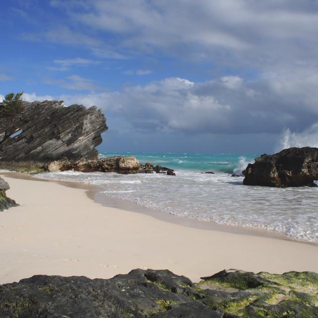 """Horseshoe Bay, Bermuda"" stock image"