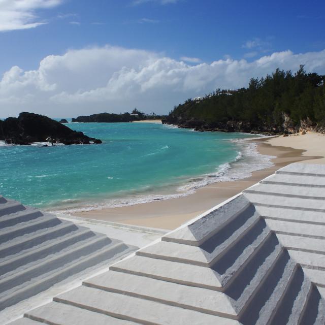 """Bermuda rooftops"" stock image"