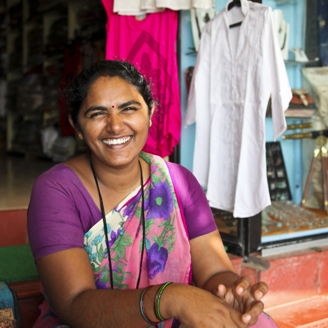 """Indian Saleswoman"" stock image"