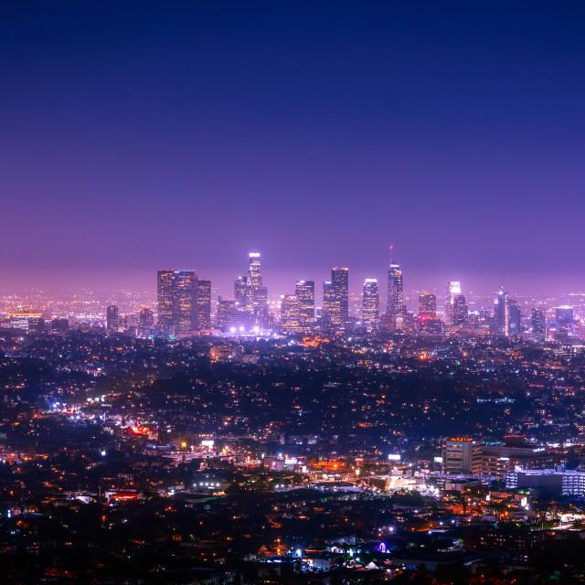 """""""LA skyline"""" stock image"""