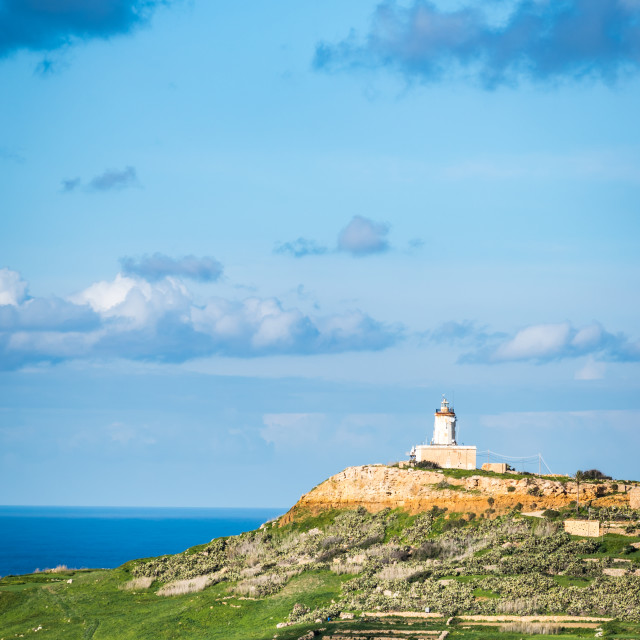 """Giordan Lighthouse on a sunny afternoon"" stock image"