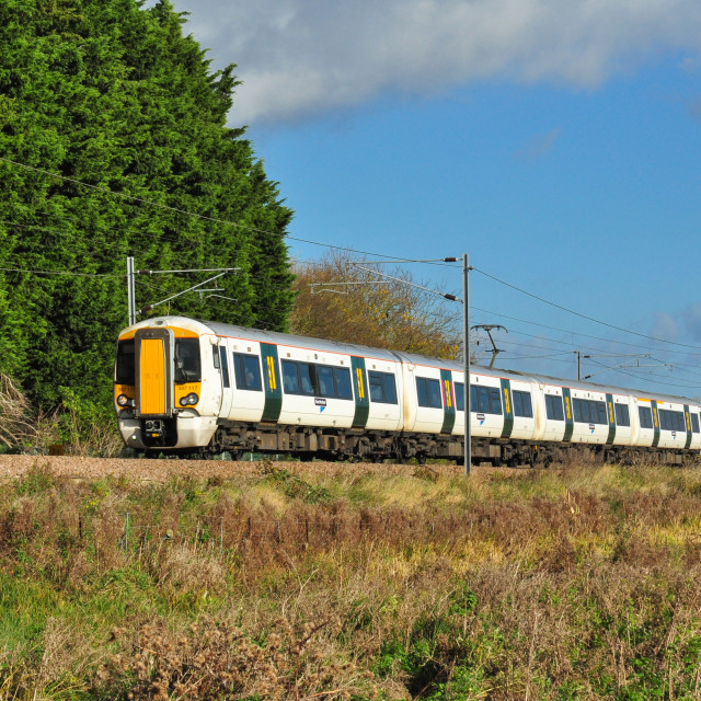 """Class 387 EMU Just North of Ely"" stock image"