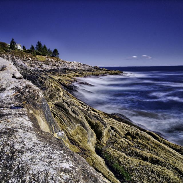 """Coast of Main"" stock image"