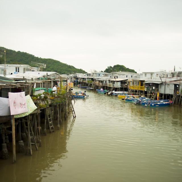 """""""Village of Tai O, Hong Kong"""" stock image"""