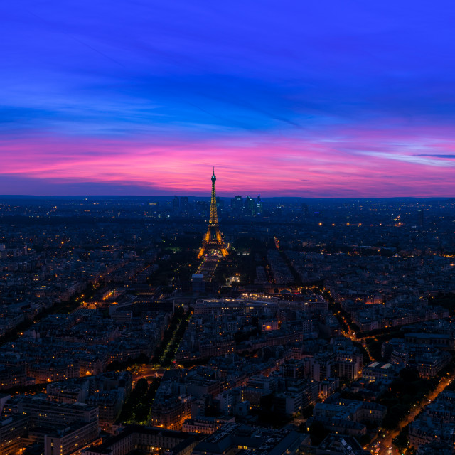 """""""Eifel tower in blue hour"""" stock image"""