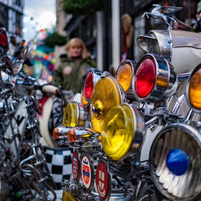 """""""Scooter rally carnaby Street"""" stock image"""