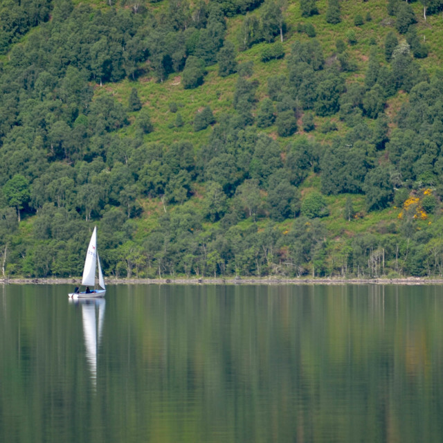 """Peaceful Loch Ness"" stock image"