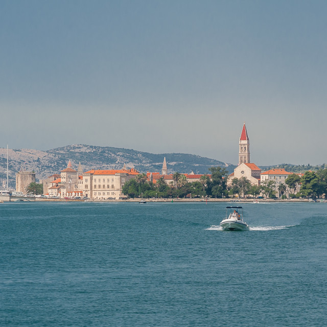 """""""Croatia, Trogir, sightseeing a great Unesco World Heritage town."""" stock image"""