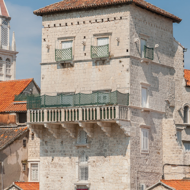 """Croatia, Trogir, sightseeing a great Unesco World Heritage town."" stock image"