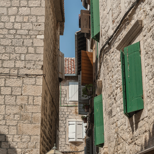 """""""Croatia, Trogir sightseeing a great Unesco World Heritage town."""" stock image"""