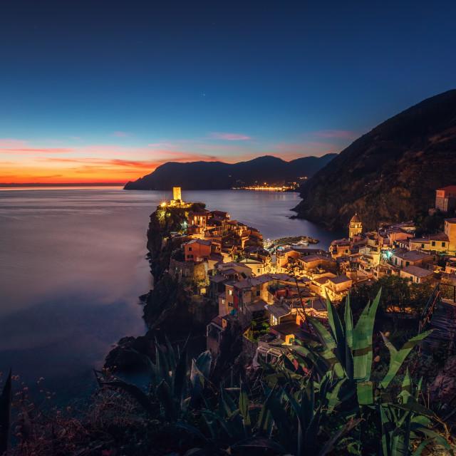 """Vernaza village, Cinque Terre, Liguria, Italy, Europe"" stock image"
