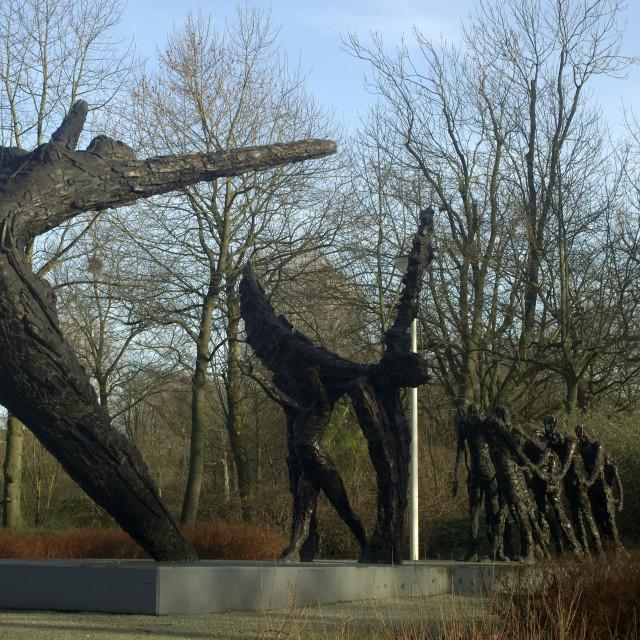 """Amsterdam The Netherlands Slavery monument (Slavernijmonument) in Oosterpark."" stock image"