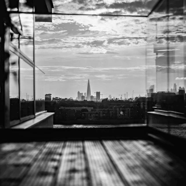 """""""Shard from balcony"""" stock image"""