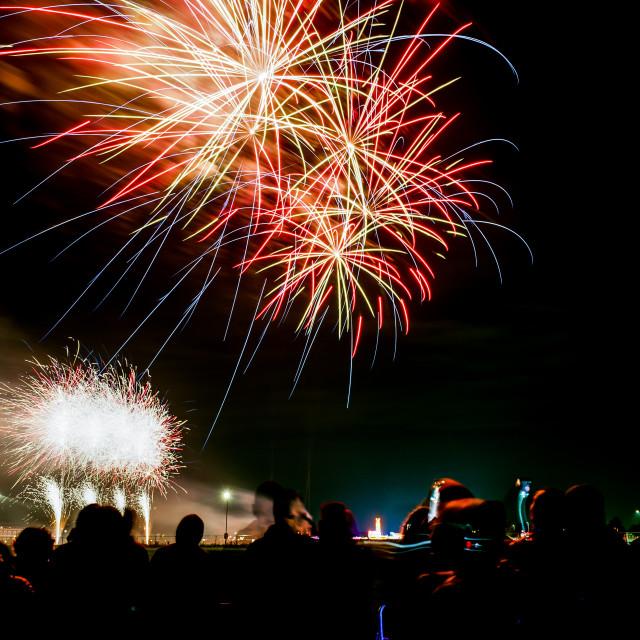 """""""Fireworks glow"""" stock image"""