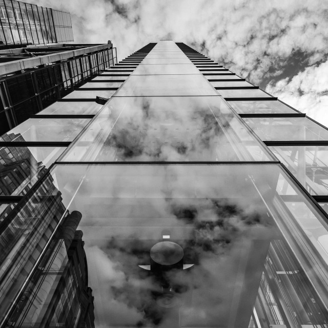 """""""reflected clouds"""" stock image"""