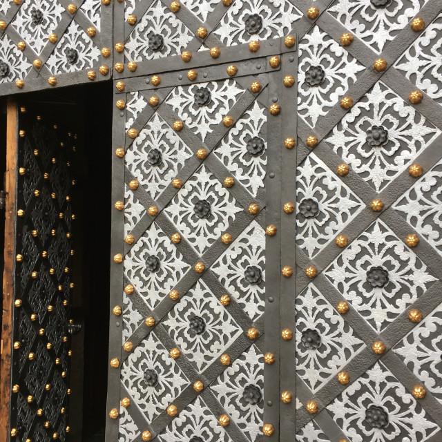 """""""Kraków doorway"""" stock image"""
