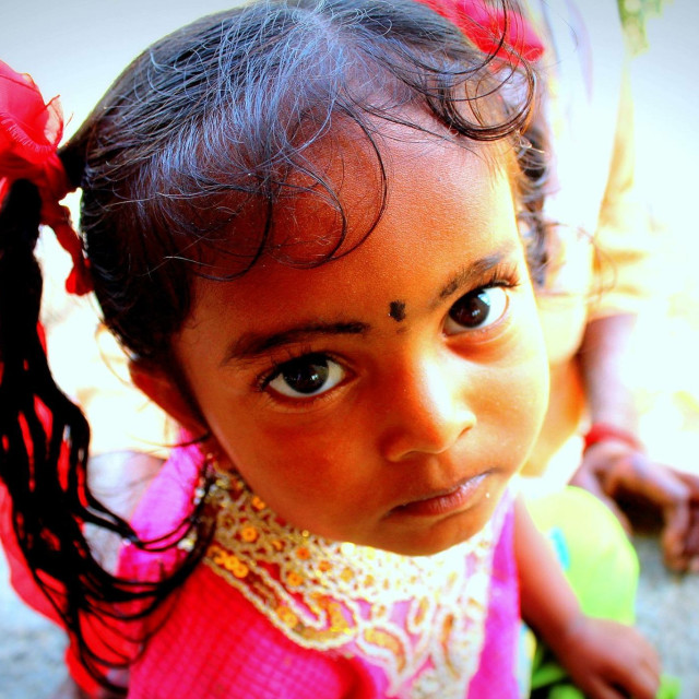 """A local Kannada child"" stock image"