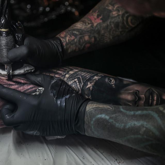 """Shin Tattoo"" stock image"