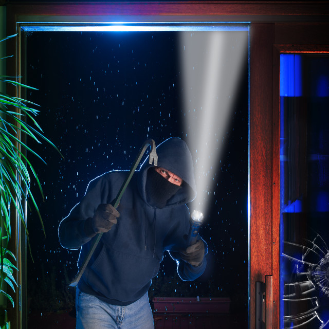 """Burglar house break"" stock image"