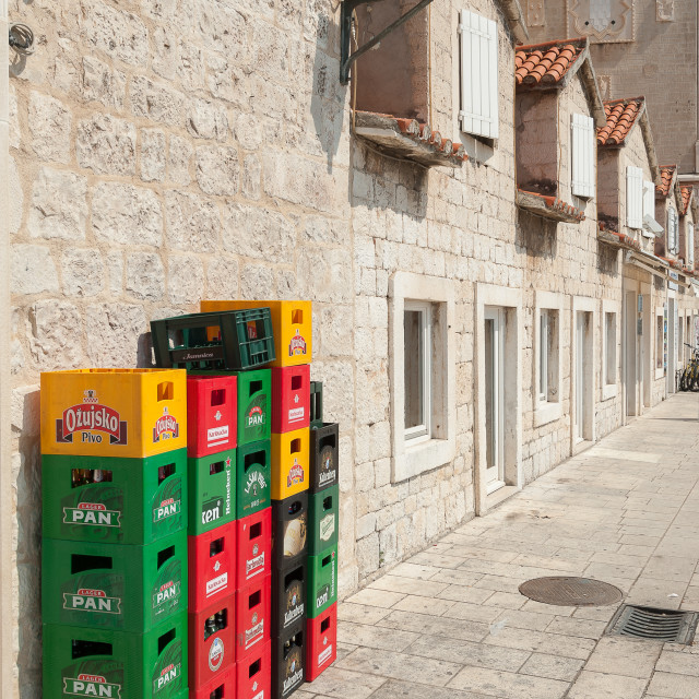 """Croatia, Trogir, sightseeing a Unesco World Heritage town."" stock image"
