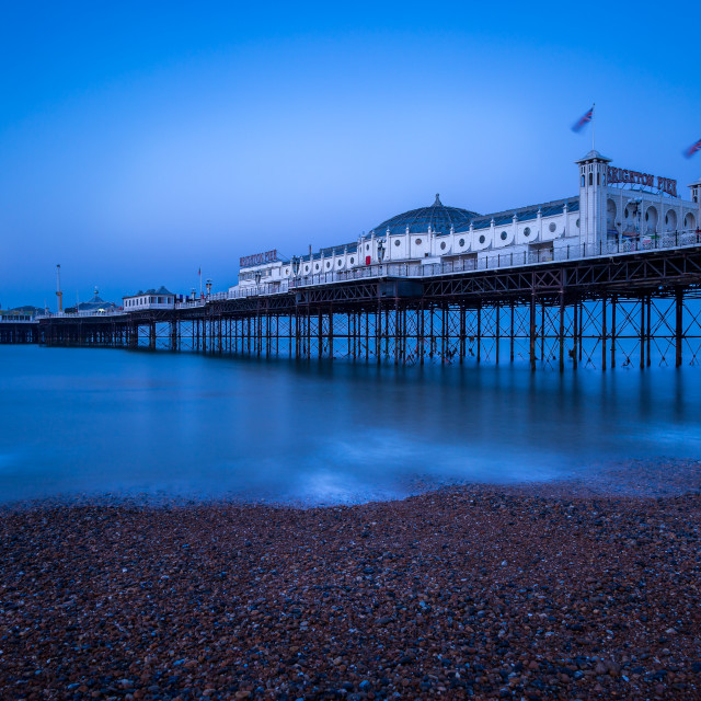 """5:45am on Brighton beach"" stock image"
